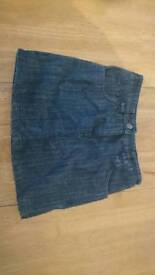 Girls next denim jeans skirt age 8 years with stretchy waist