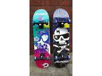 2 Avigo skateboards & 2 sets of safety pads
