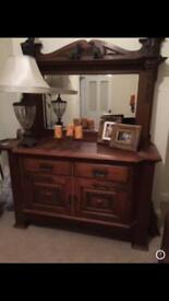 Antique large Victorian dresser