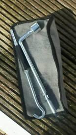 Wheel nut opener in case