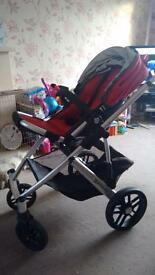 UppaBaby Vista Full Travel System inc Maxi Cosi Car Seat