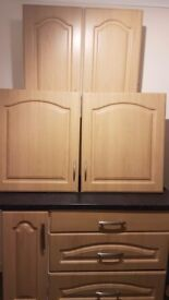 Excellent condition kitchen cupboard fronts 2x