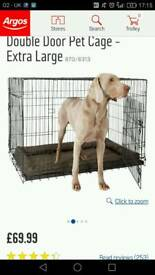 Xl dog cage also quick foat pack for storage