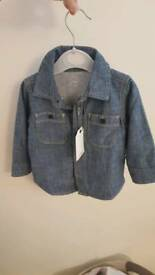 Smart Boy's denim shirt - size 6-12 months