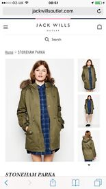 Jack wills size 8 coat. Only worn a few times! In excellent condition