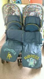 Obaby twin stroller monster inc £100 if gone Wednesday