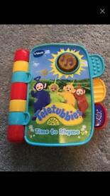 Vtech teletubbies book