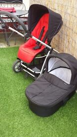 Mamas and Papas Glide Pushchair with carrycot.