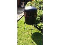 Garden wood burner patio heater