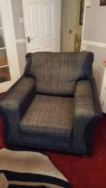 Black and Greg armchair