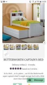 Childs captain bed with storage