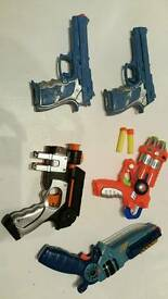 Collection of plastic guns