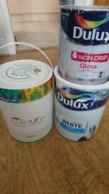Wilkos Silk Magnolia Paint 5l brand new + Other used white paint
