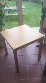 2 Seater Dining Table Oak Effect