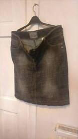 2 denim skirts 1 pair of jeans