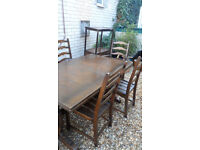 Ercole Dining Table & 6 Chairs (2 are Carvers)