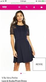 Brand new ladies size 14 petite navy blue dress