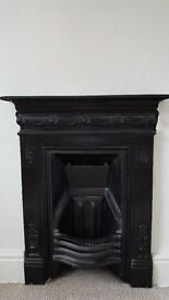 Detailed Cast Iron Fireplace - Excellent Condition