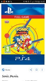 Ps4 sonic mania game code