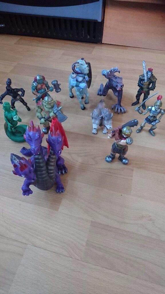 11 monster figures