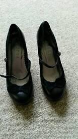 Office black heels 40