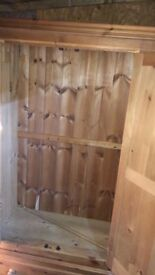 Solid Pine Wardrobe - up cycle project!