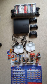 Play Station 3 PS3 320GB + 25 Games + 4 Original Controllers + 1 Compat Controller + Disney Pads