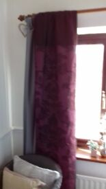 Beautiful plum curtains by Coloroll.