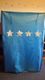 Star canvas / fabric roll up kids wardrobe