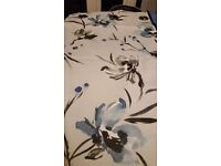 NEXT NARA WATERCOLOUR FLORAL LINED EYELET CURTAINS 228 CMS X 229 CMS