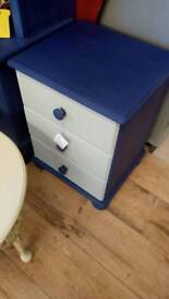Bedside table blue and marina