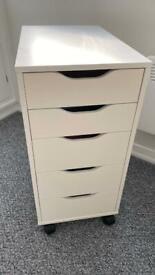 Ikea, ALEX Drawer unit, white36x70 cm