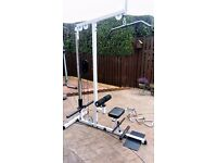 LAT PULL DOWN / SEATED ROW MACHINE INC ADDITIONAL BARS