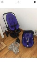 Quinny moodd travel system/pushchair with car seat