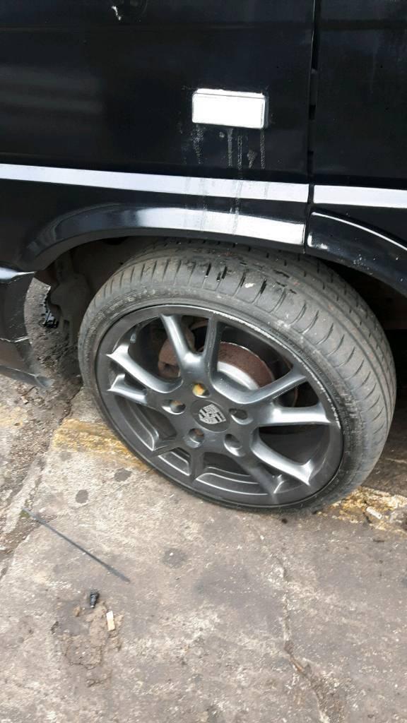 Porsche Boxter wheels c/w adapters