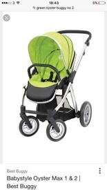 Oyster buggy With car seat carry cot is brand new the car seat and buggy in good used condition