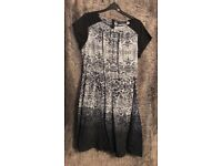 Ladies Dress - Dorothy Perkins - Black with white pattern - Size 14