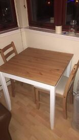 IKEA LERHAMN Dining Table and 2 Chars Set