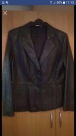 Ladies soft leather jacket