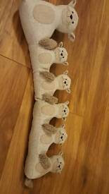 Cute kitty draught excluder