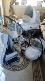 As new babystyle prestige travel system pram pushchair