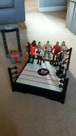 Selection of WWF wrestlers & Wrestling arena