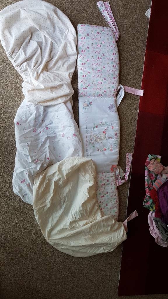 Crib Bumper and 3 x Sheets
