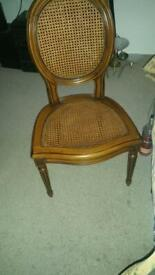 4x solid wood chairs excellent condition