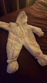 Girls snow suit 9-12 months