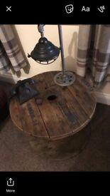 Quirky cable reel table
