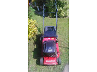 "mountfield emperess lawnmower, briggs and stratton engine , rear roller , 16"" cut"