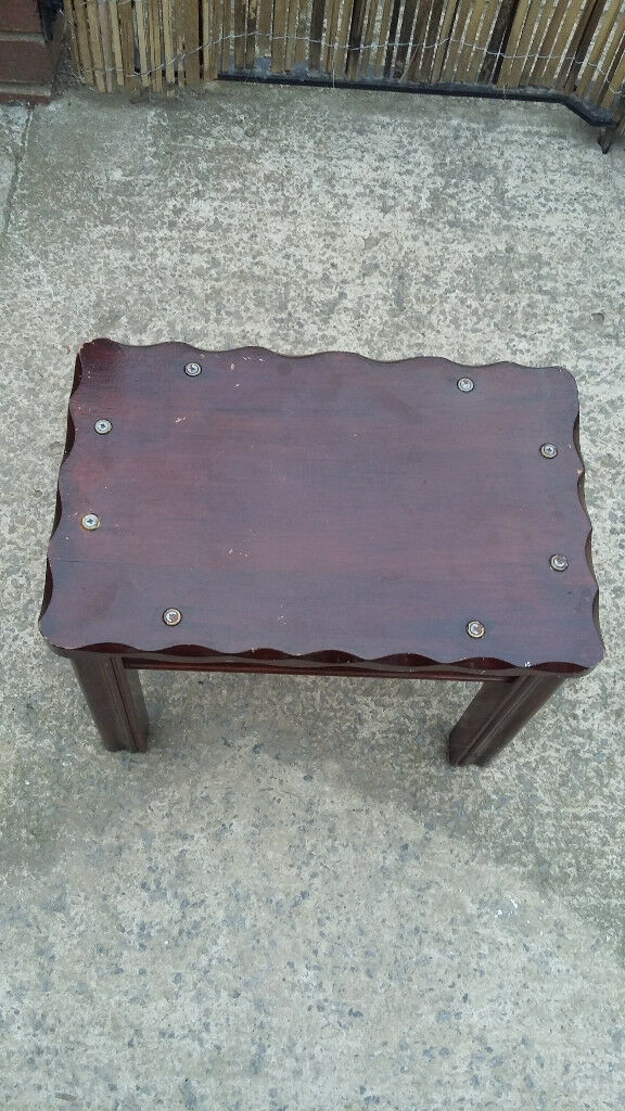 small mahogany wood side table