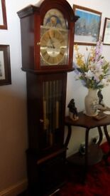 """Beautiful Grandmother brass faced, Longcase """"Pembroke"""" (8 Day clock), made by (Fenclocks of Suffolk)"""