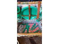 Lovely wicker picnic basket
